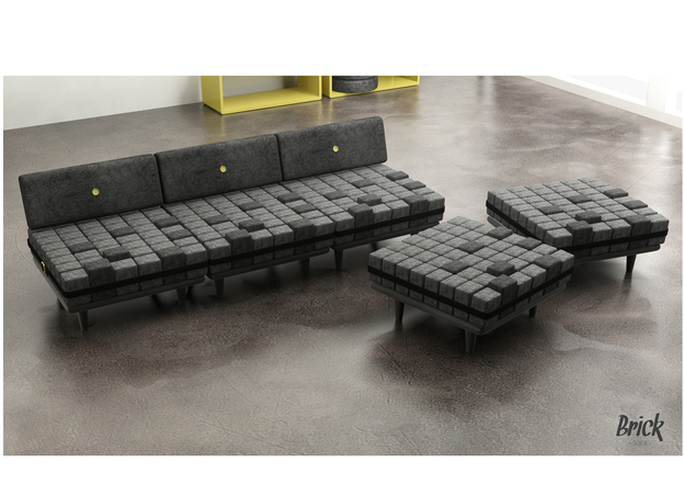 Sofa The Brick Amazing Brick Sofa  Launchbox Design Inspiration